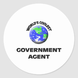 World's Coolest Government Agent Stickers