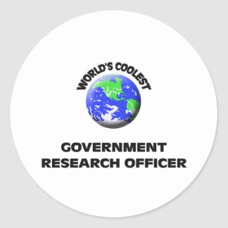 World's Coolest Government Research Officer Stickers