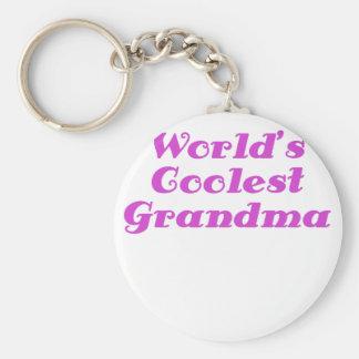 Worlds Coolest Grandma Keychain