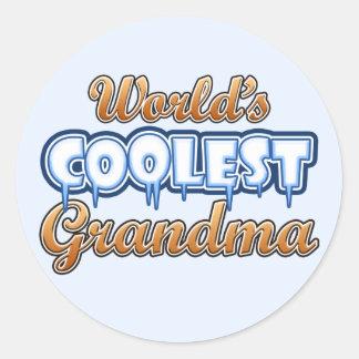 World's Coolest Grandma Round Sticker