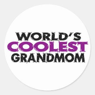 Worlds Coolest Grandmom Stickers