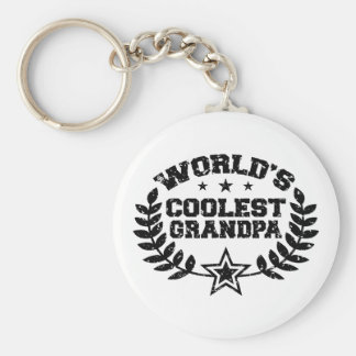 World's Coolest Grandpa Basic Round Button Key Ring