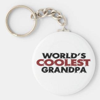 Worlds Coolest Grandpa Basic Round Button Key Ring