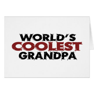 Worlds Coolest Grandpa Greeting Card