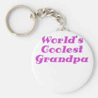 Worlds Coolest Grandpa Key Chain