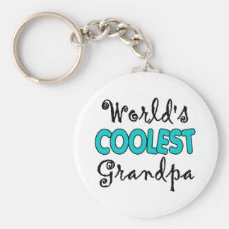 Worlds Coolest Grandpa Keychain