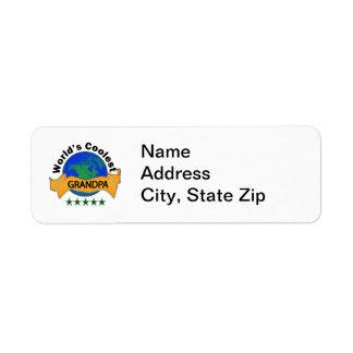 World's Coolest Grandpa Return Address Label