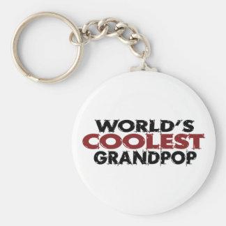 Worlds Coolest Grandpop Basic Round Button Key Ring