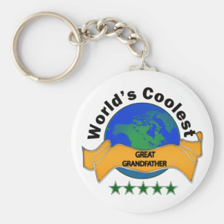 World's Coolest Great Grandfather Basic Round Button Key Ring