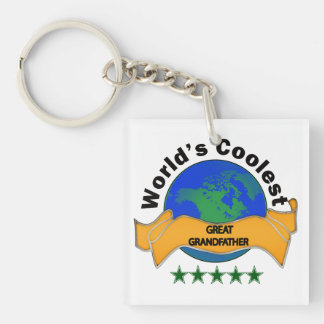 World's Coolest Great Grandfather Single-Sided Square Acrylic Key Ring