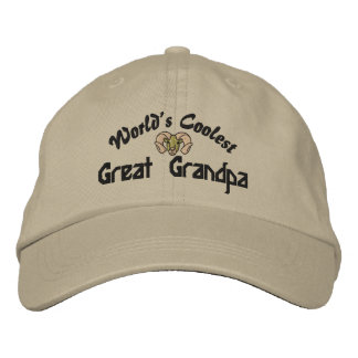 World's Coolest Great Grandpa Embroidered Hat