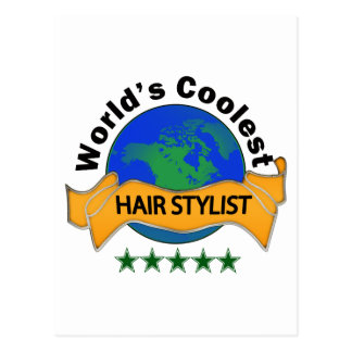 World's Coolest Hair Stylist Postcard