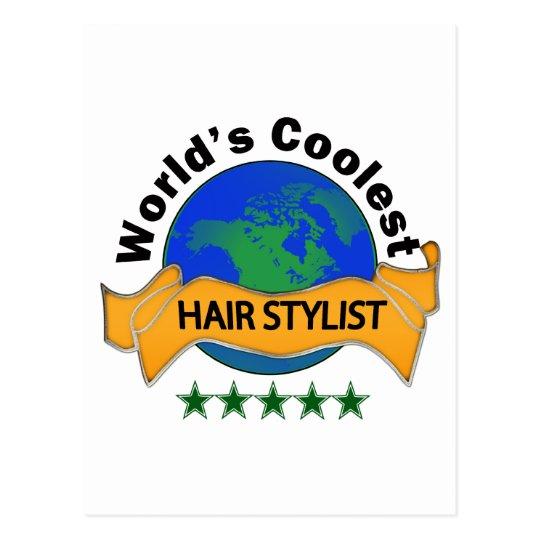 World's Coolest Hair Stylist Postcard