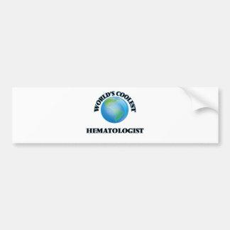 World's coolest Hematologist Car Bumper Sticker
