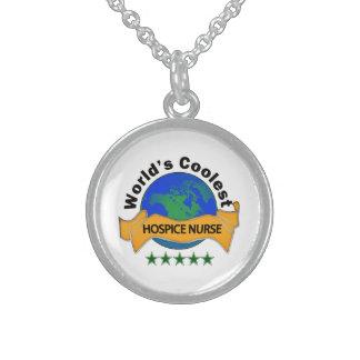 World's Coolest Hospice Nurse Round Pendant Necklace