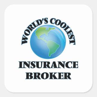World's coolest Insurance Broker Square Sticker