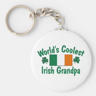 World's Coolest Irish Grandpa Basic Round Button Key Ring