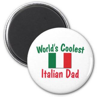 World's Coolest Italian Dad 6 Cm Round Magnet