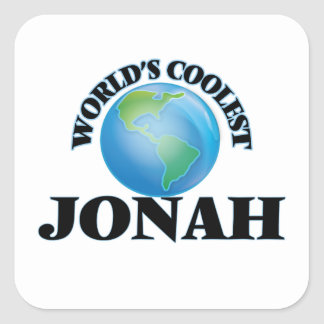 World's Coolest Jonah Square Sticker