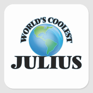 World's Coolest Julius Square Sticker