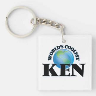 World's Coolest Ken Square Acrylic Keychain