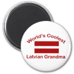 World's Coolest Latvian Grandma Refrigerator Magnet