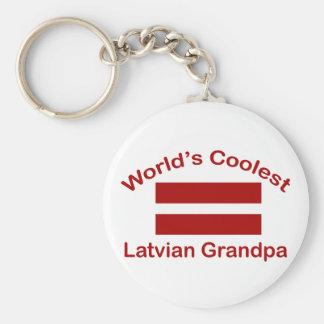 World's Coolest Latvian Grandpa Basic Round Button Key Ring