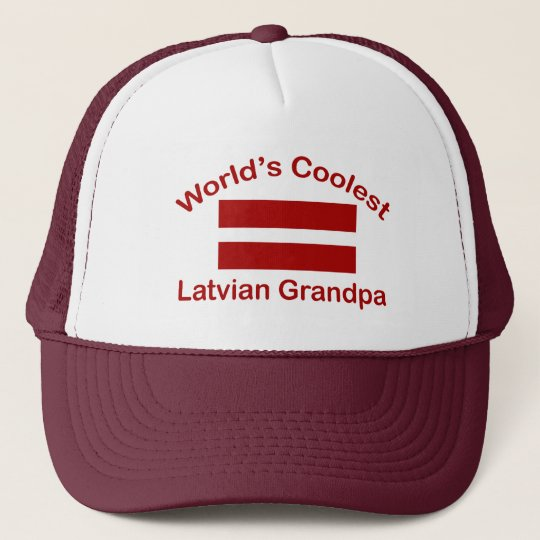 World's Coolest Latvian Grandpa Trucker Hat