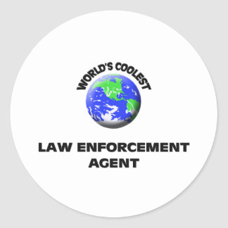 World's Coolest Law Enforcement Agent Sticker