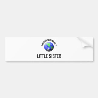 World's Coolest Little Sister Bumper Sticker