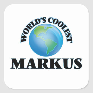 World's Coolest Markus Square Stickers