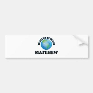 World's Coolest Matthew Bumper Sticker