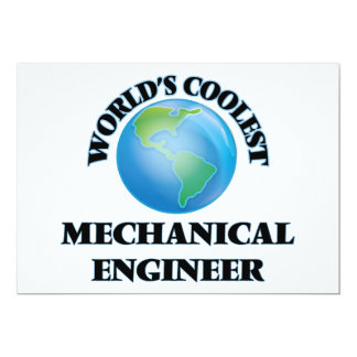 World's coolest Mechanical Engineer Personalized Announcement Cards