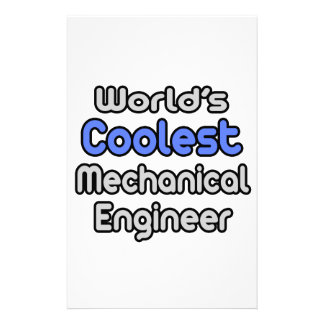 World's Coolest Mechanical Engineer Personalized Stationery
