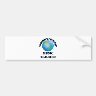 World's coolest Music Teacher Bumper Sticker