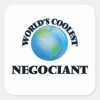 World's coolest Negociant Square Sticker