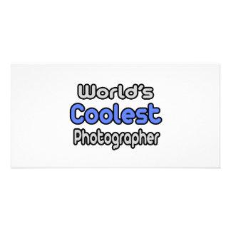 World's Coolest Photographer Customized Photo Card