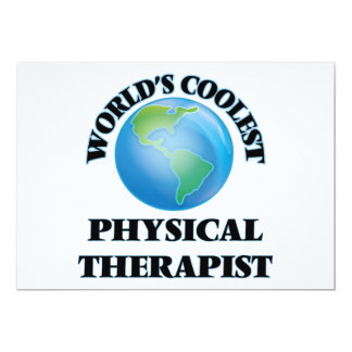 World's coolest Physical Therapist Personalized Announcements