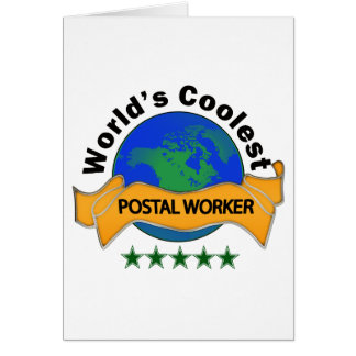 World's Coolest Postal Worker Greeting Card