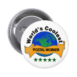 World's Coolest Postal Worker Pin