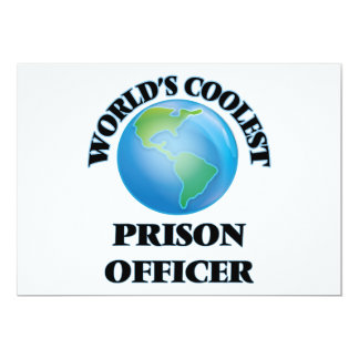 World's coolest Prison Officer Personalized Invitation