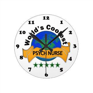 World's Coolest Psych Nurse Round Clock