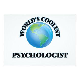 "World's coolest Psychologist 5"" X 7"" Invitation Card"