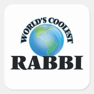 World's coolest Rabbi Square Sticker