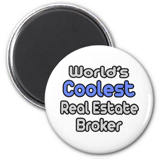 World's Coolest Real Estate Broker Refrigerator Magnet