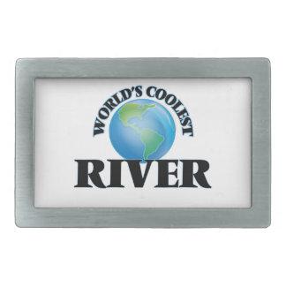 World's Coolest River Rectangular Belt Buckle
