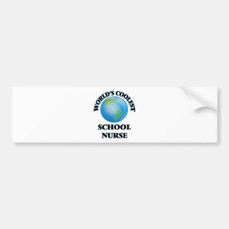 World's coolest School Nurse Bumper Sticker