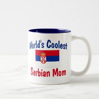 World's Coolest Serbian Mom Gift Two-Tone Coffee Mug