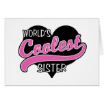 World's Coolest Sister Greeting Card