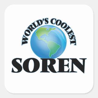 World's Coolest Soren Square Sticker